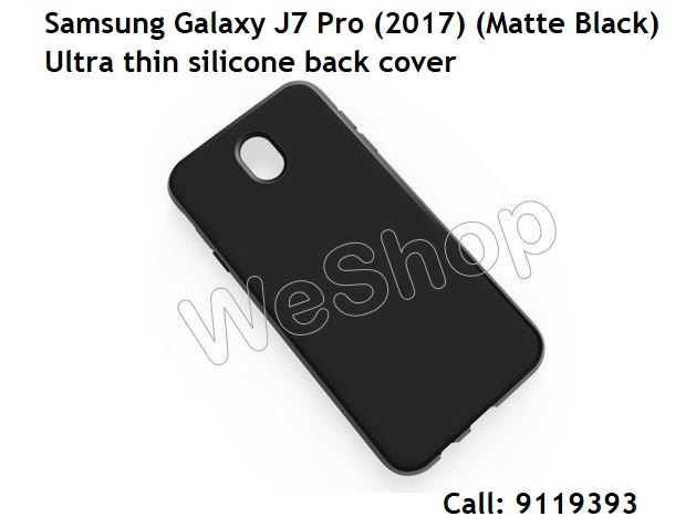 Case Slim Black Matte Samsung Galaxy J7 Pro Softcase Baby Skin + Free OTG Micro 1