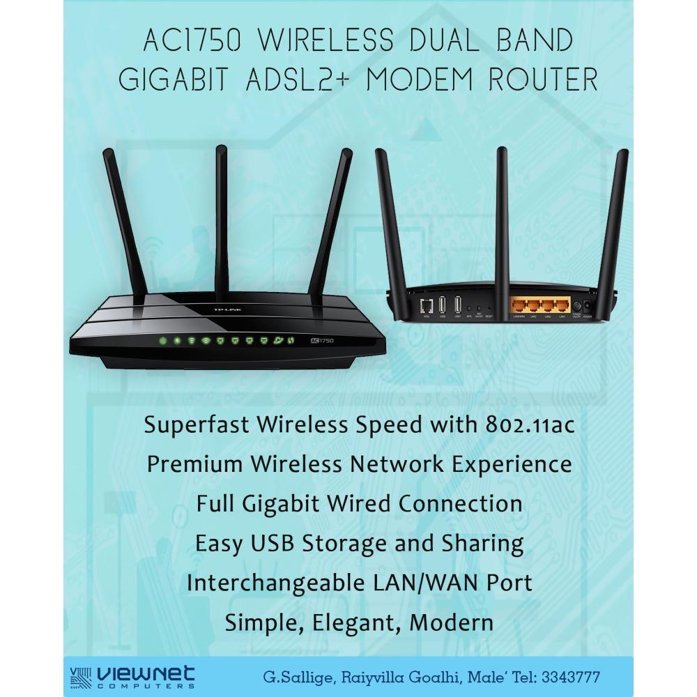 TPlink AC1750 Wireless Dual Band Gigabit ADSL2+ Modem Router   iBay