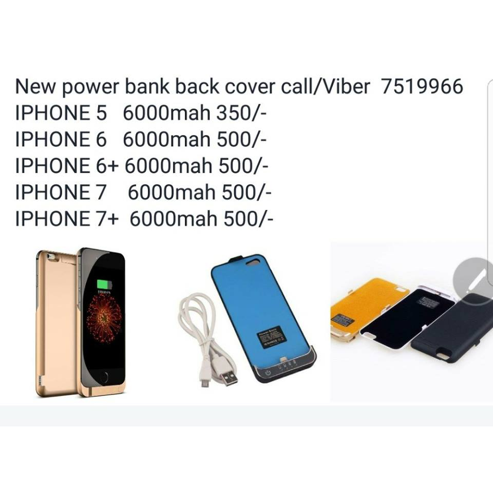 New Power Bank Back Cover 5s 5c 6 6s 7 S8 Note8 Call Case Juice Pack Plus Powerbank Backcover Iphone 5 Home