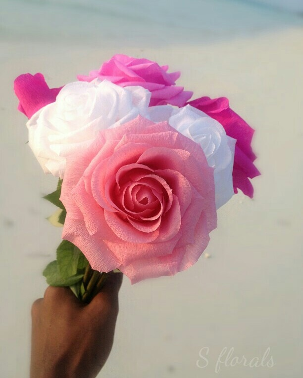 We make realistic crepe paper roses for orders call 9848834 ibay mightylinksfo