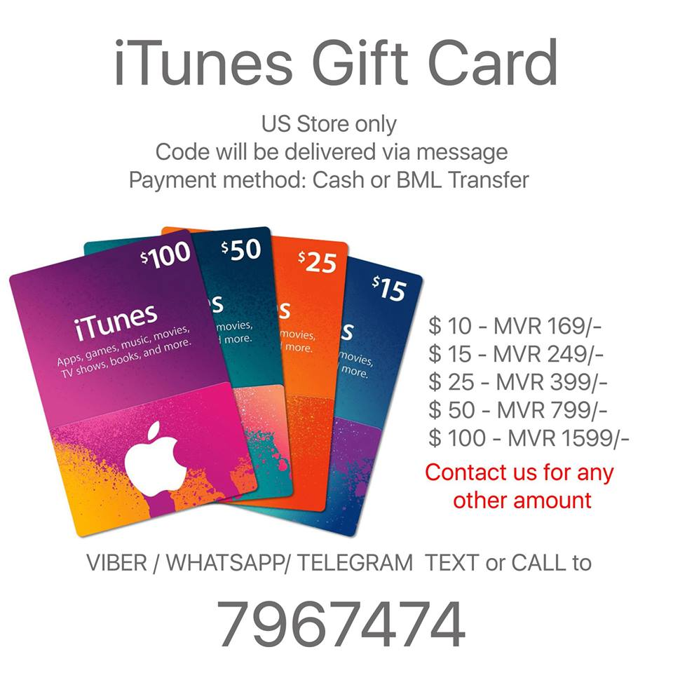Itunes Gift Card Code Us Store Usd 10152550100 Call Viber Msg 50 Home For Sale Mobile Phones Accessories Other