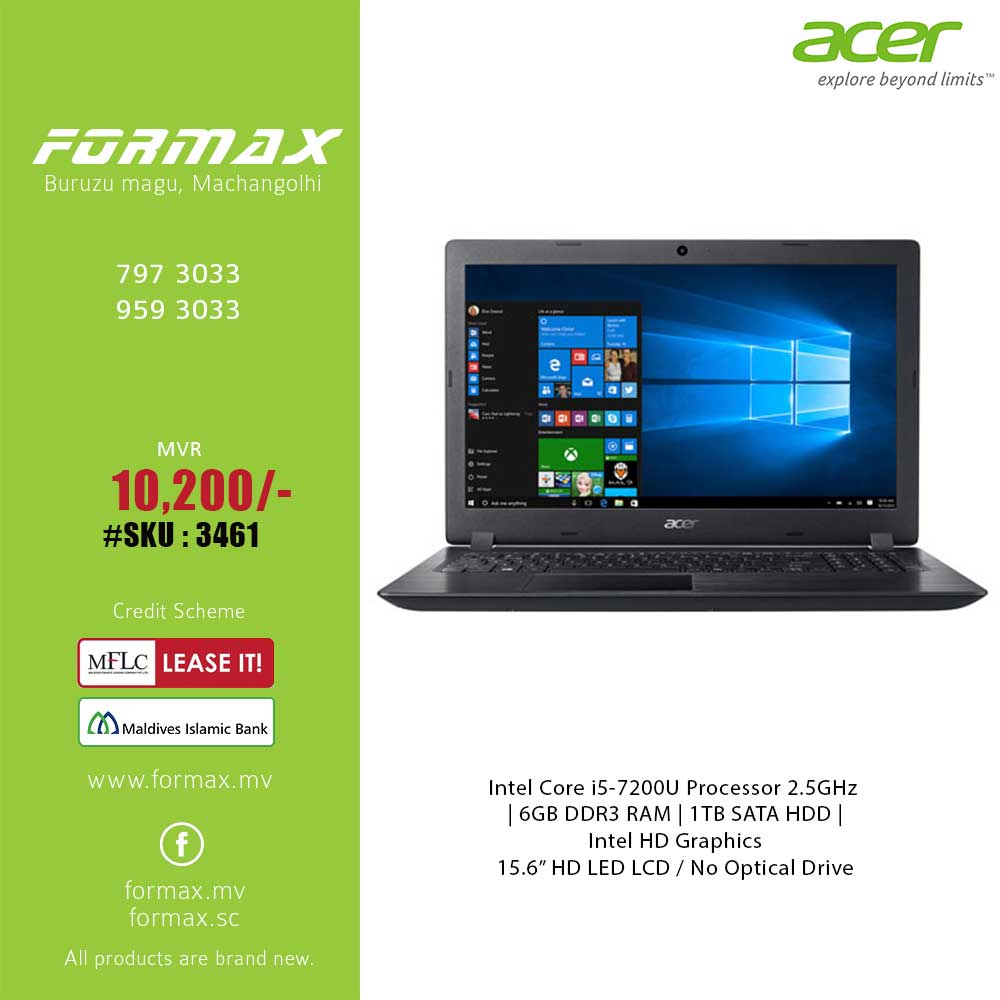 Acer Aspire 3 Laptop Formax Ibay Dell Inspiron 3462 Intel Celeron N3350 Home