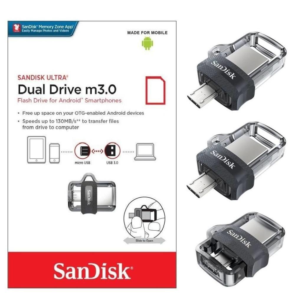 32gb Sandisk Otg Usb 30 Flash Pen Drive For Samsung Call Fd Dual Micro Home