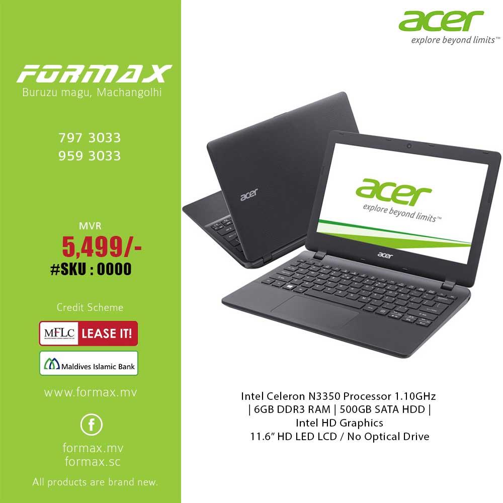 Acer Aspire Es11 Es1 132 C7pz Laptop Formax Ibay Dell Inspiron 3462 Intel Celeron N3350 Home