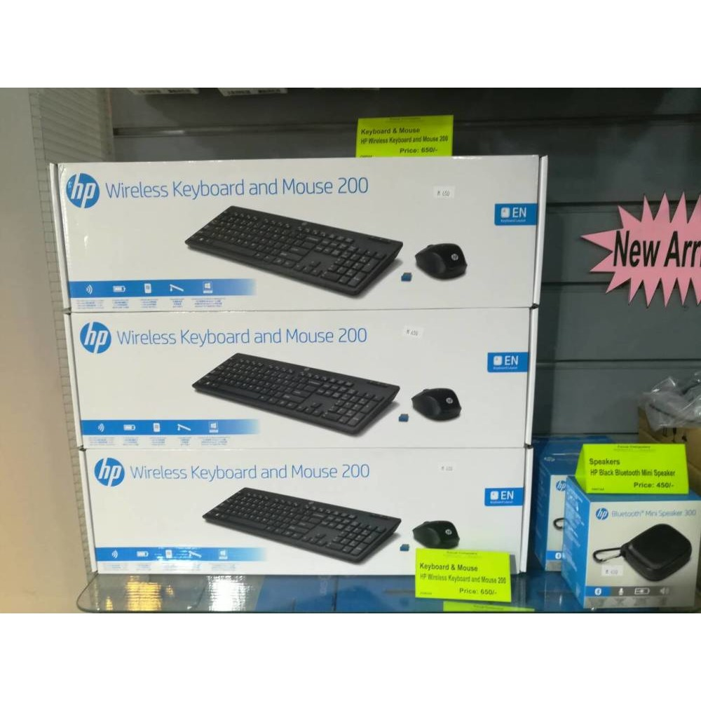 Branded Hp Orginal Wireless Keyboard And Mouse Ibay Logitech Mk240 Mini Home