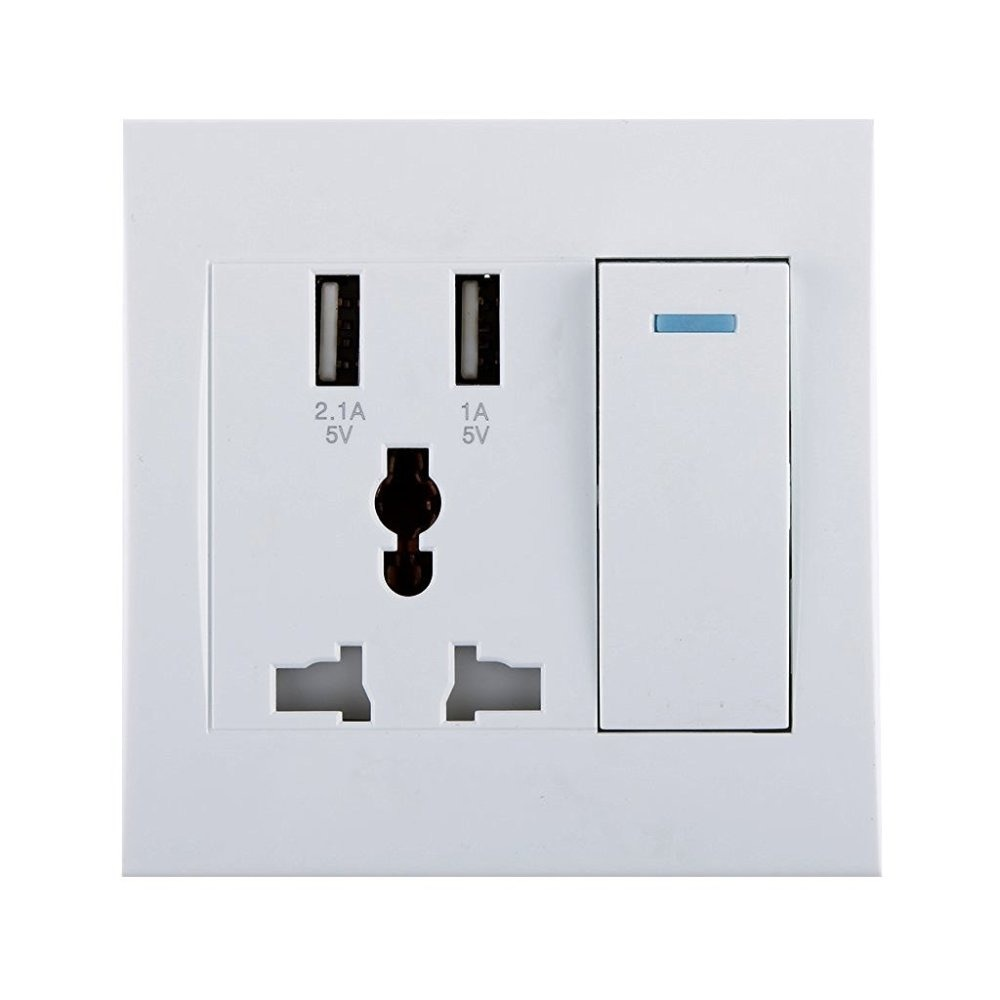 ELECTRIC OUTLET WITH SOCKET SWITCH WITH USB CHARGER | iBay