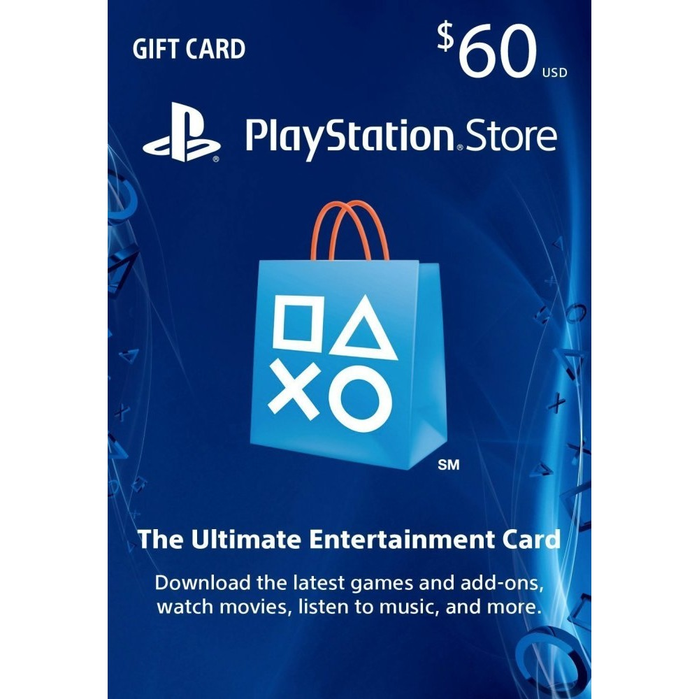$60 PSN PlayStation Store Gift Card - PS3/ PS4/ PS Vita [Digital ...