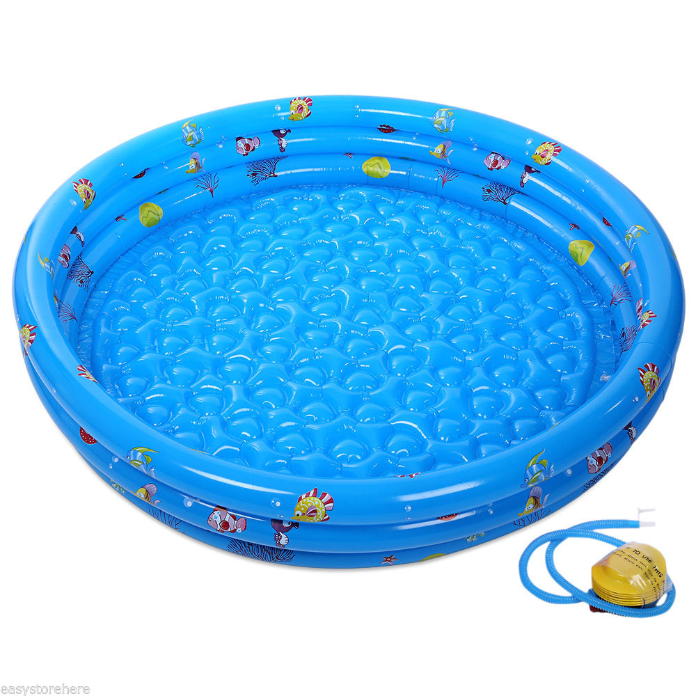 PVC Baby Swimming Inflatable Pool Portable Children Basin Bathtub ...