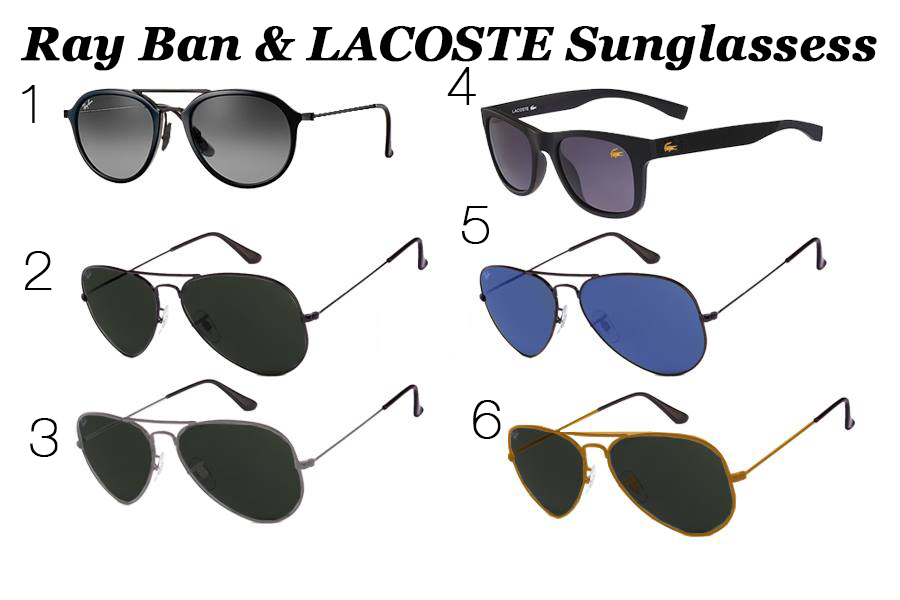85039f81b60b4 Ray Ban and LACOSTE Sunglassess   iBay