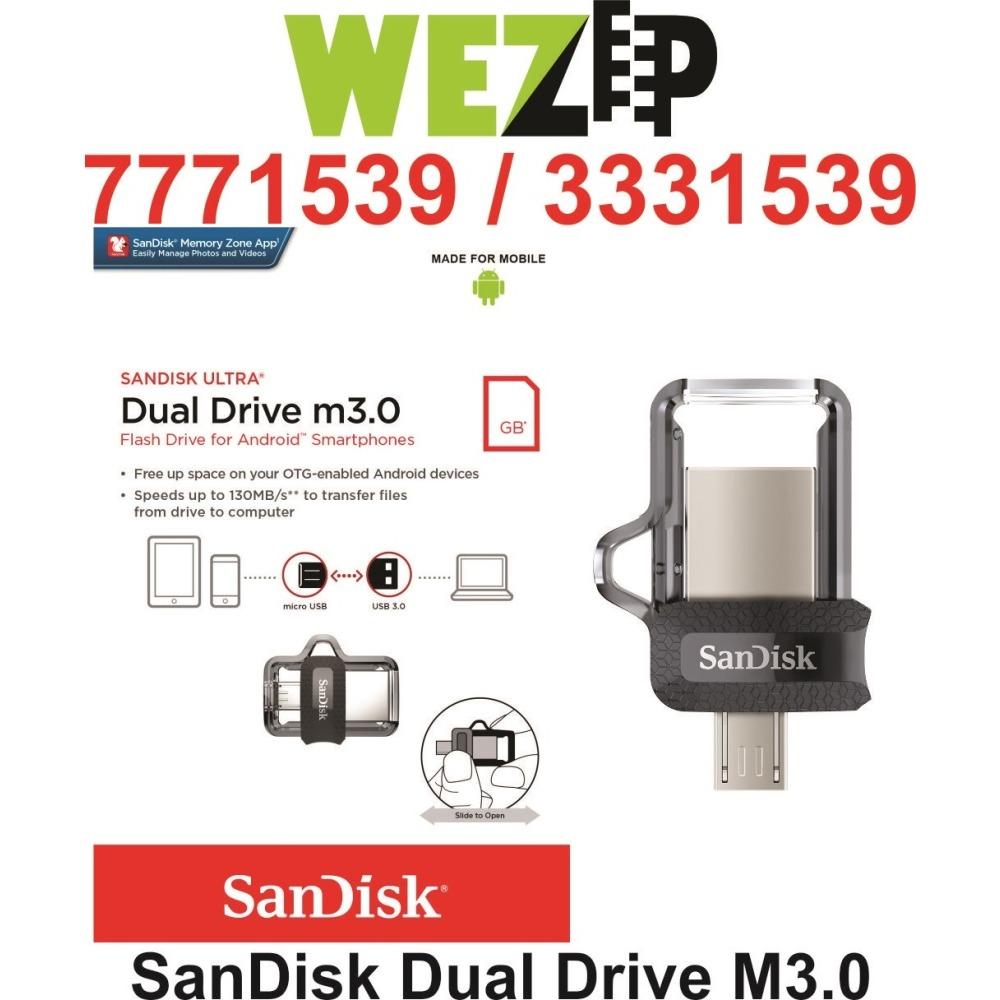 Original Sandisk Ultra Dual Usb Otg Pendrive 32gb Call 7771539 Ibay Drive New