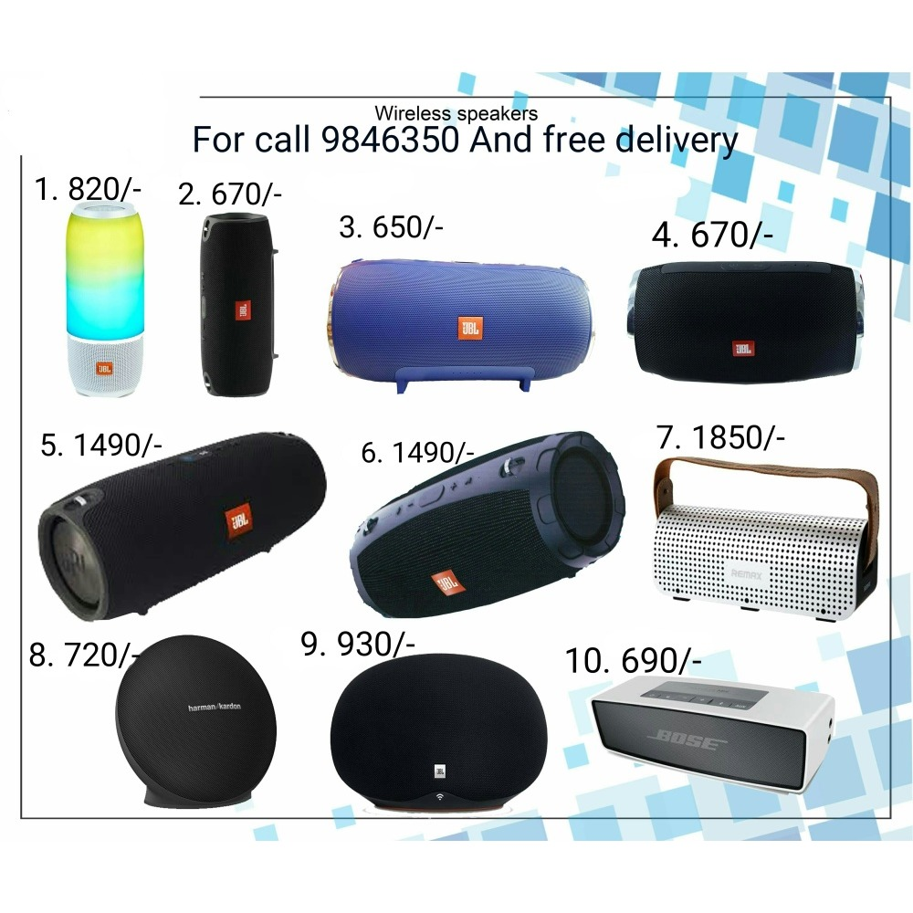 Jbl Portable Wireless Speaker For Call 9846350 And Free Delivery Ibay Mini Charger 1