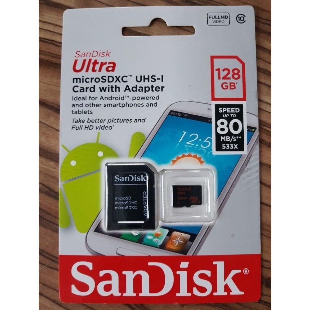GENUINE SanDisk Ultra MicroSDXC Card Class10 128GB 80MB S 7717165