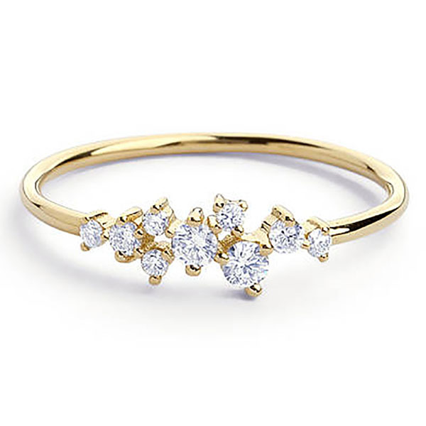 79b8a8bc7a Stylish Fashion Women Ring Finger Jewelry Rose Gold /Sliver /Gold Color  Rhinesto | iBay