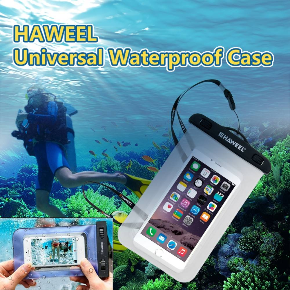 Original Haweel Clear Universal Waterproof Bag For Smart Phones Up Lcd Touchscreen Asus Zenfone 6 To Inch Ibay