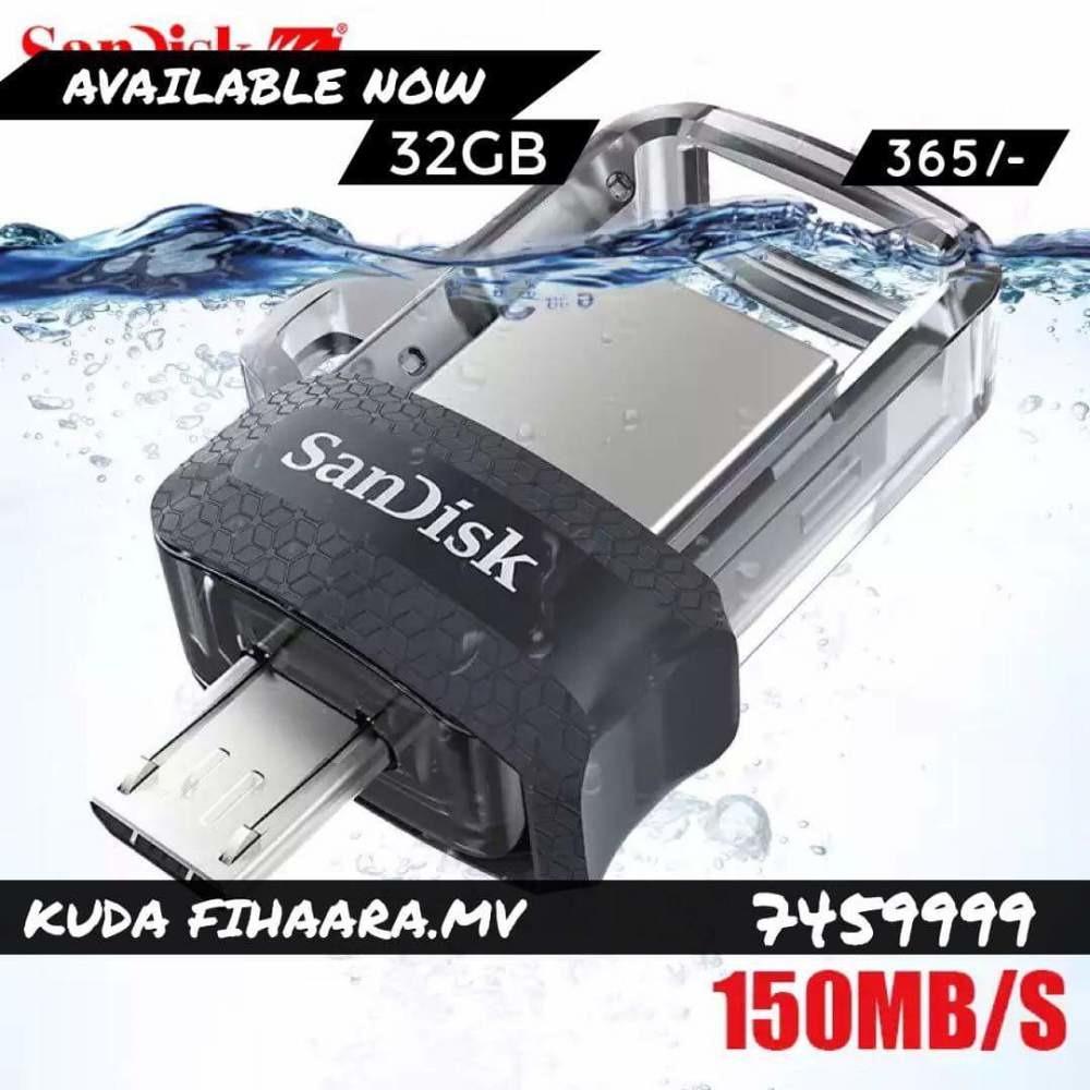 Sandisk Otg Dual Usb Flash Drivepen 32gb Drive Pen 30 150mb S Flashdisk 32 Gb Dri Ibay