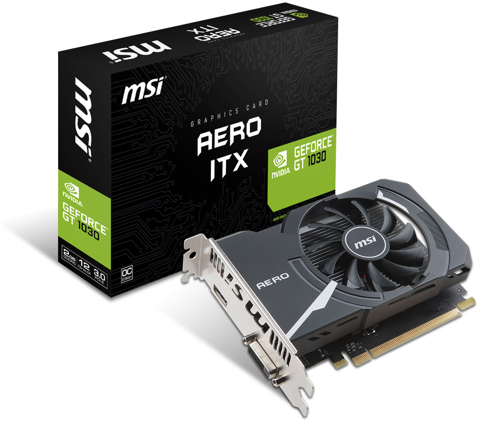 MSI GeForce GT 1030 2GB OC Graphics Card