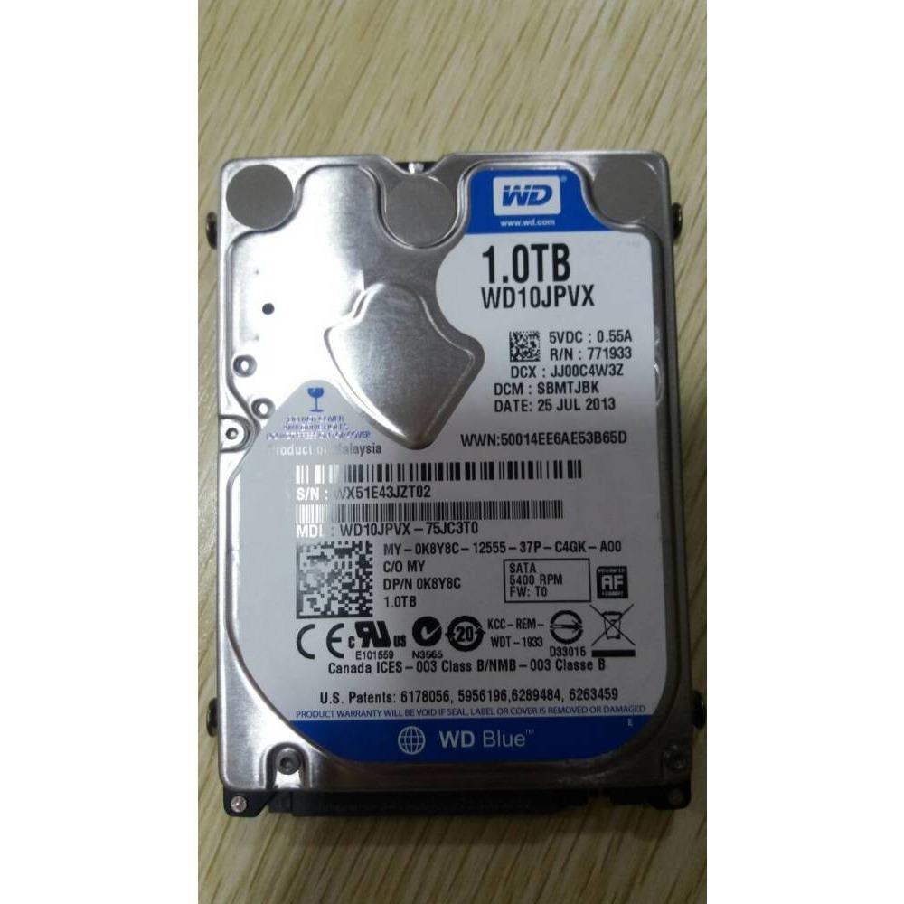 Western Digital Wd10jpvx 75jc3t0 1tb Dcm Sbmtjbk Laptop Hard Disk Hardisk Notebook Toshiba 25 Inch Sata Ibay