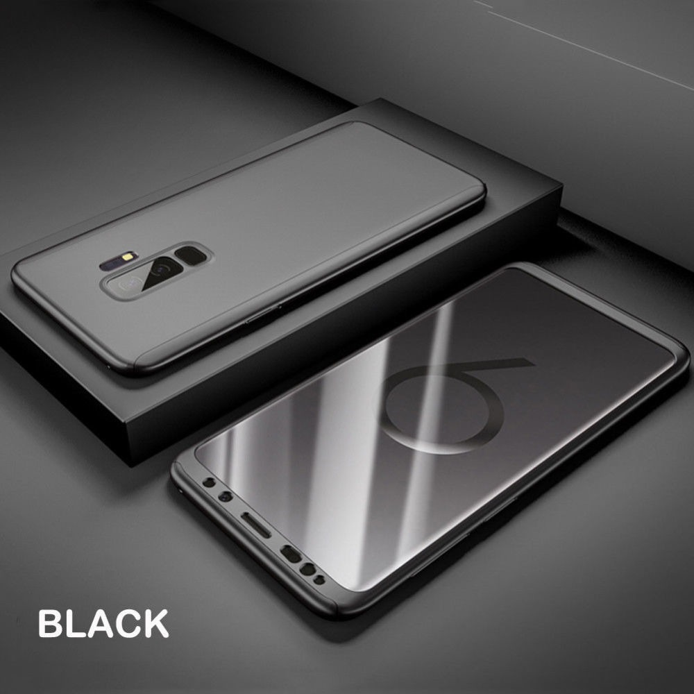 size 40 f97c8 ce9a1 For Samsung Galaxy A8 Plus 360 Full Body Shockproof Hard Slim Case ...