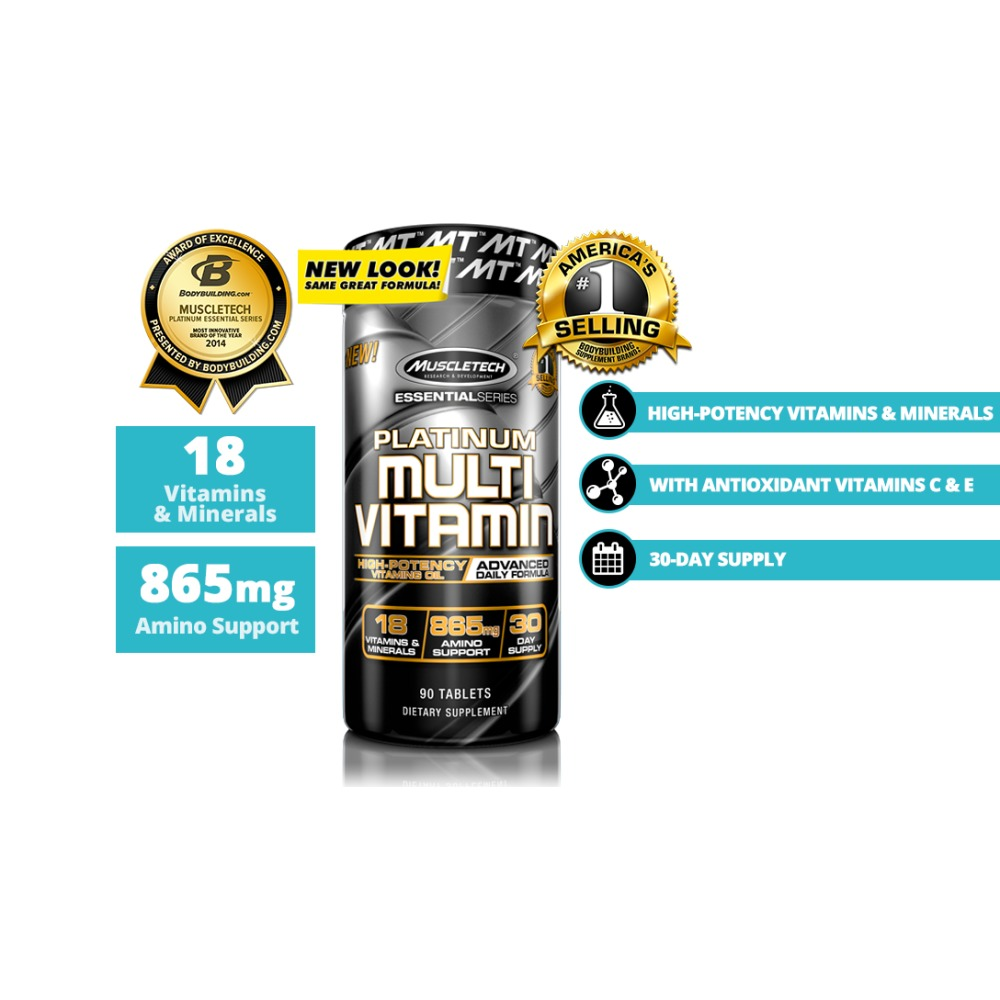 Muscletech Platinum Multivitamin 90 Tablets Ibay Bcaa Essential Series