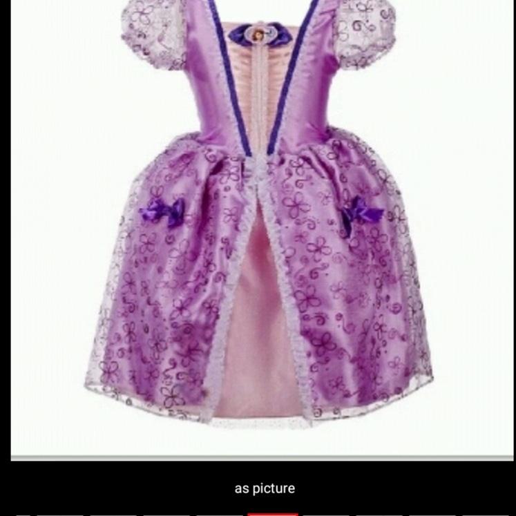 49e059daab2b NEw Summer Girls Princess Purple Dress Size 4 -11Yrs