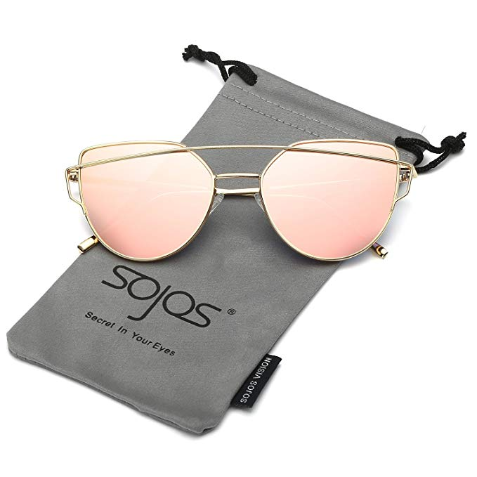 dbc268a756f Original Brand New SojoS Fashion100%UV Protection Cat Eye Sunglasses  Pink
