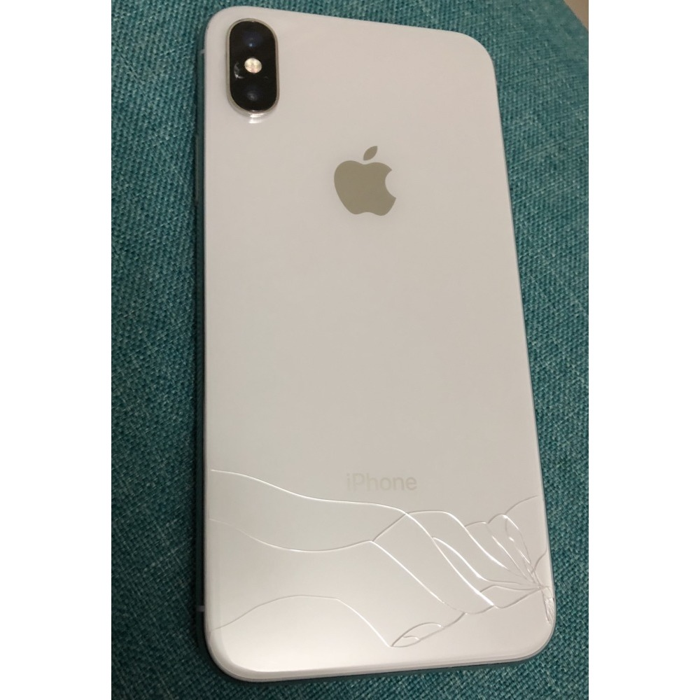 hot sale online 744c3 b1fe8 iPhone X 256gb Silver 4Months Used-Back glass Cracked-New Charger+ ...