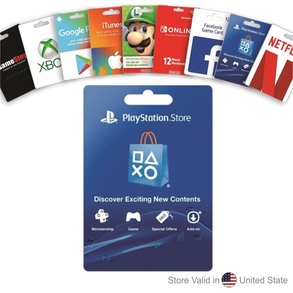 $10 PlayStation Store Gift Card game movies music download