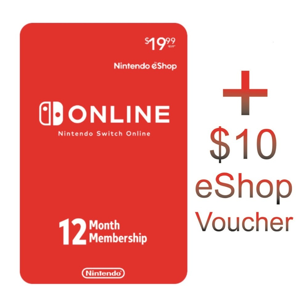 Best Offer Yet 1 Year Nintendo Online Subscription 10 Usd Eshop Gift Card Us 50 Digital Code Ibay