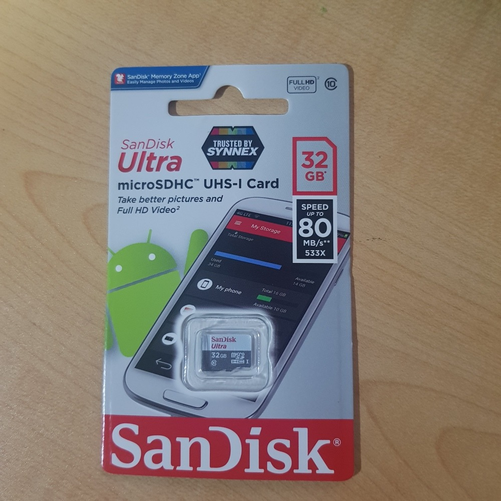 SanDisk Ultra MicroSDHC UHS I 32GB Card Class 10 Call 7770971 For Free Delivery