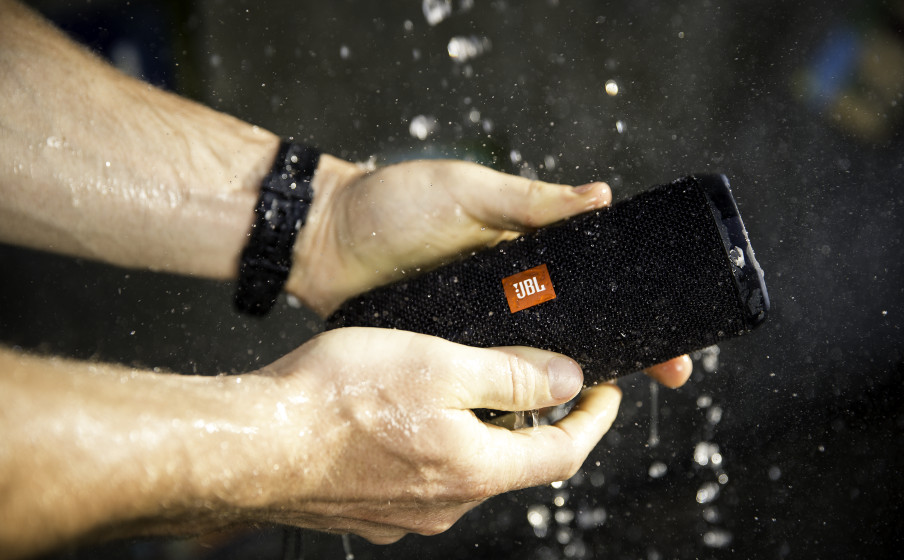 Image result for JBL Flip 4 Waterproof Portable Bluetooth speaker - Black