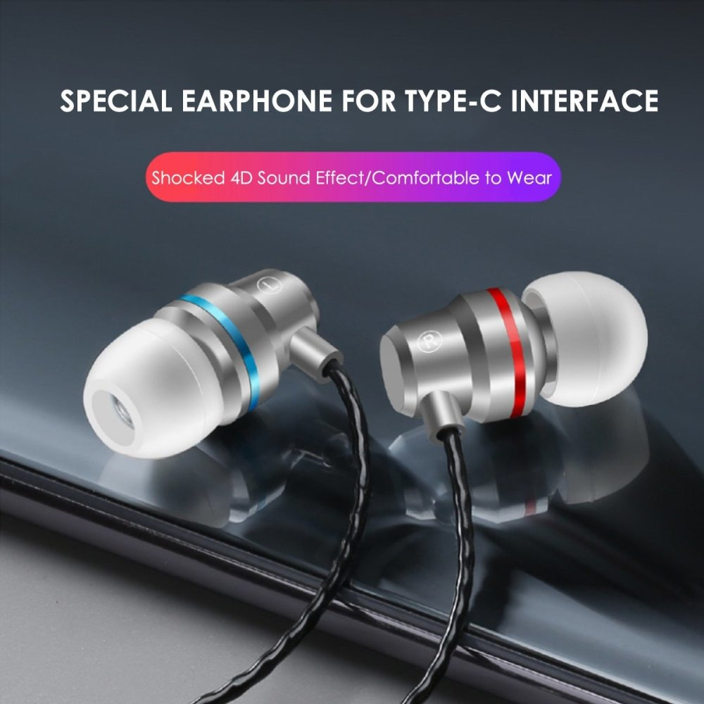 USB-C-Type-c-Earphone-In-Ear-W-Microphone-Headset-Deep-Bass