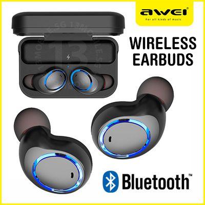 b1cde68e1e0 Awei T3 True Wireless Bluetooth Earphone With Charging Case .call 7666592. 1
