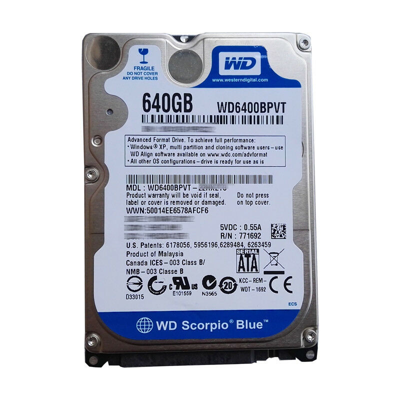 WD 640GB Laptop hard Disk | iBay