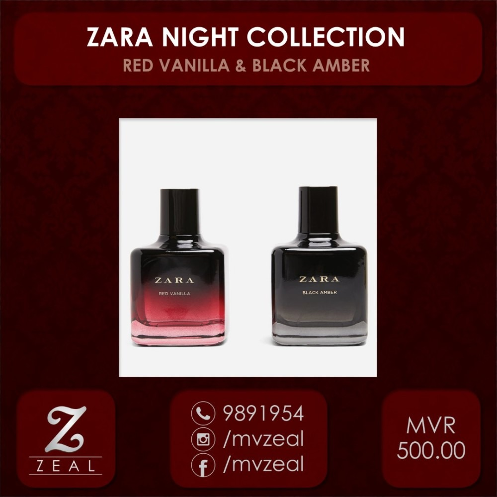ZARA NIGHT COLLECTION (RED VANILLA + BLACK AMBER 100 ML). Report