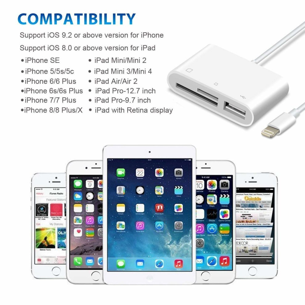 online store eb339 2c43b 3 in 1 Card Reader Usb Otg For Apple Iphone Call: 7776959,7583213   iBay