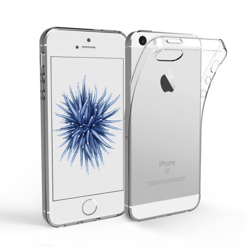 new products 280b4 0926c iPhone SE, 5 & 5S Ultra thin Transparent (TPU) Soft Case + FREE ...