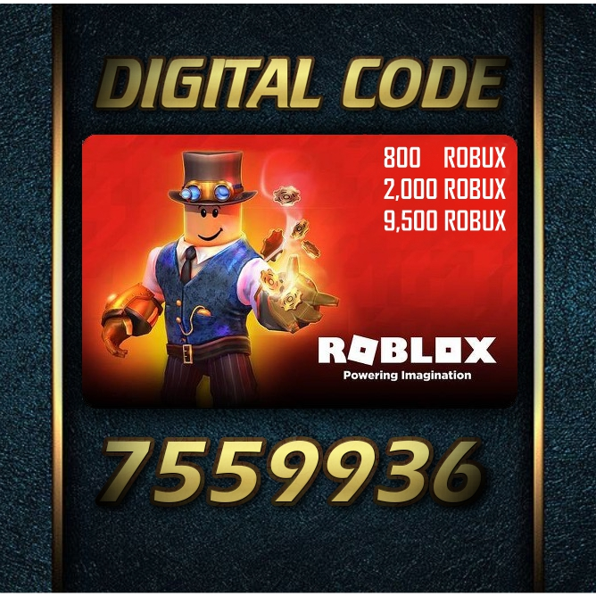 Roblox Game Gift Card For Phone And Console Robux Ibay