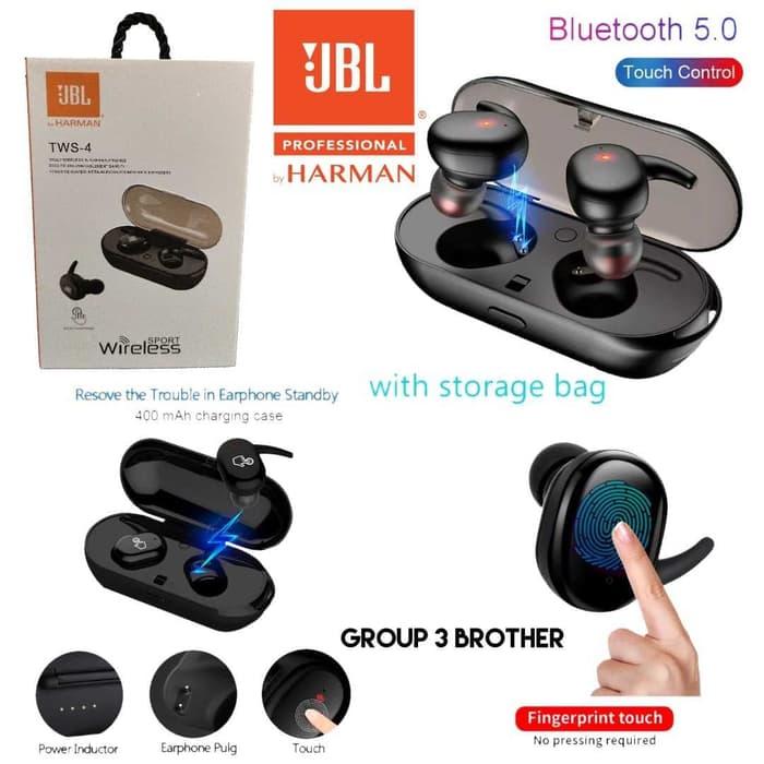 Tws 4 Jbl Touch 5 0 Binaural Call Wireless Bluetooth Headset Call 7383899 Ibay