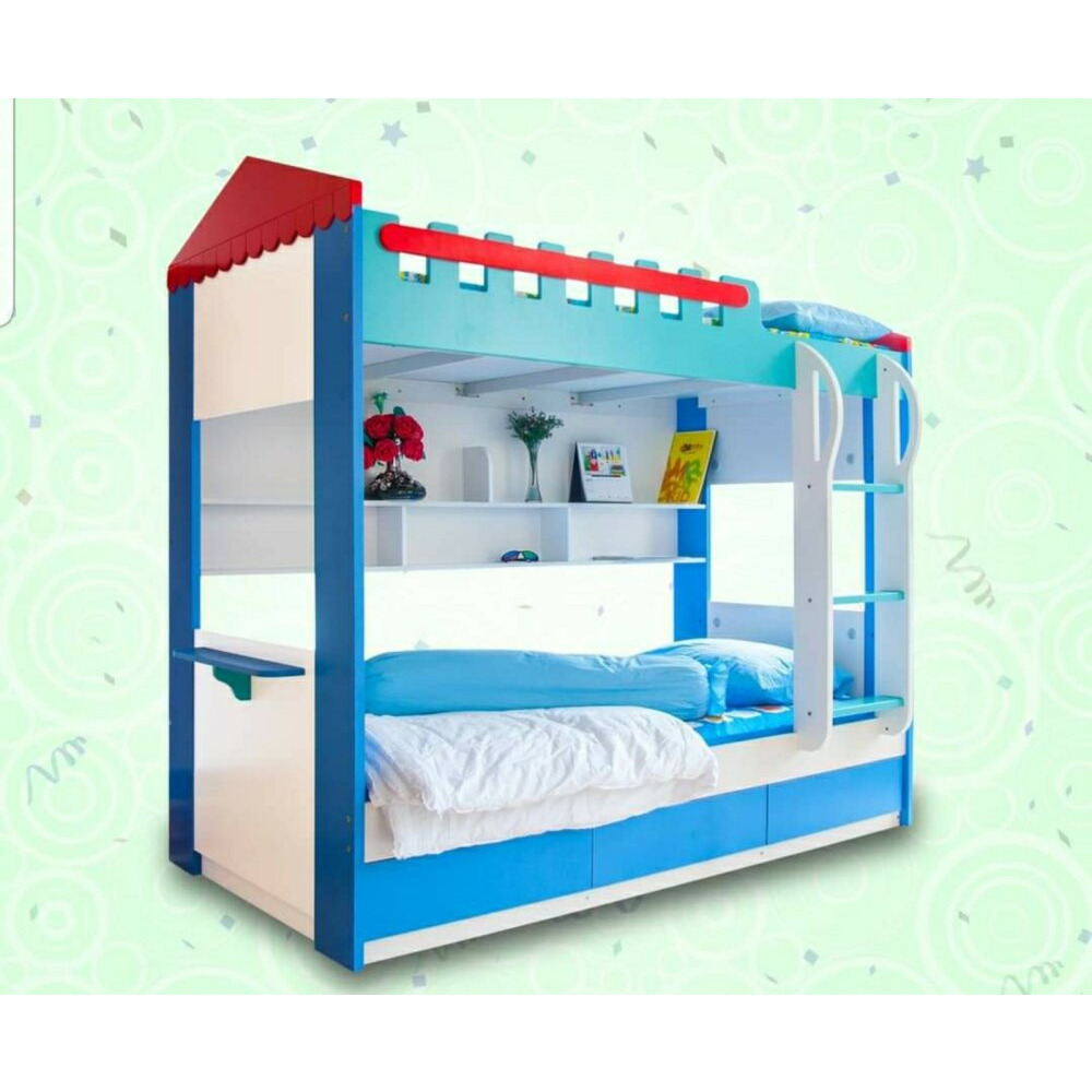 Used Bunk Bed For Sale Include 3 Beds With Pullout Bed Mattress Call 7783600 Ibay